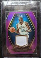 2015 16 SELECT PURPLE PRIZM #3 KEVIN DURANT GAME USED JERSEY PATCH #24/49