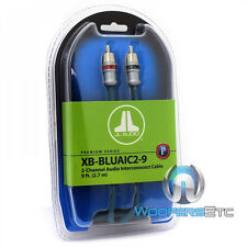 JL AUDIO XB-BLUAIC2-9 9FT 2CHANNEL INTERCONNECT RCA WIRE CABLE FOR AMPLIFIER NEW