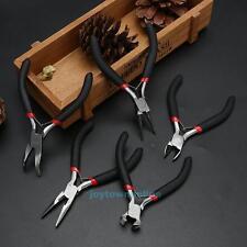 5Pcs Mini Jewelry Chain Round Long Bent Plier Cutter Beading Tool Repair Kit