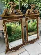 """More details for pair of  20thclarge italian """" la barge""""  carved wood gilt federal eagle mirrors"""