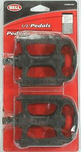 """One Pair BELL 1/2"""" Reflective Bicycle Pedals. Left & Right."""