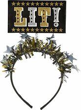 Black, Gold & Silver Light-Up Lit! Head Bopper 5in x 2 3/4in
