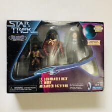 LT. COMMANDER DATA, LT. WORF, ALEXANDER ROZHENKO, Star Trek Holodeck 1998 MIB!!