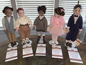 The Little Rascals Porcelain Dolls By Hamilton Collection 1993 EUC COA
