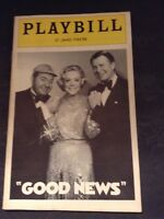 December 1974 Vol 11 @ St. James Theatre Playbill for GOOD NEWS w/ Alice Faye