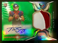 2014 Platinum #ARP-TS Tom Savage Autograph 3 Color Patch RC 59/99 Texans  +BONUS