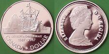 1987 Canada Silver John Davis' Expedition Dollar Graded as Proof