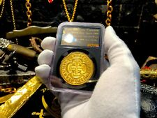 SPAIN 8 ESCUDOS NGC GOLD PENDANT JEWELRY FLEET ERA TREASURE PIRATE GOLD COINS