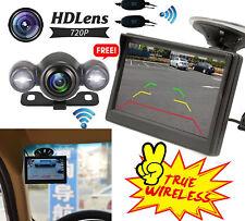 """5"""" Wireless Car Rear View Monitor Reverse Backup HD Camera KITS Night Vision US"""