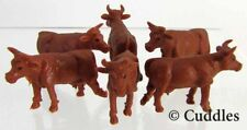Jersey Cows Safari Ltd Good Luck Mini Realistic Farm Plastic Diorama 6 New S