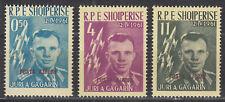 Albanien 647a-649a** Jurij Gagarin - 1. bemannter Raumflug Wostok 1