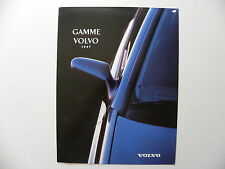 Catalogue / brochure VOLVO gamme 1997