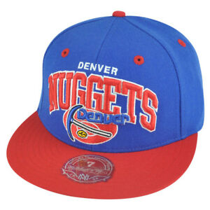 NBA Mitchell Ness Denver Nuggets TU14 2 Tone Arch Fitted Hat Cap