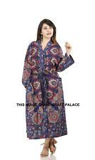 Indian Cotton Casual Night dress Sleepwear Maxi Gown Women Wear Bathrobe Kimono