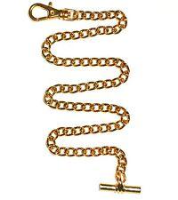 Gold Plated 12 Inch Watch Chain/Albert Chain/ Fob Chain