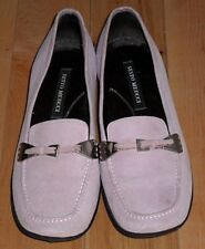 SESTO MEUCCI Italy Chatel Pink Suede Slip On Loafers Size Womens 6 1/2 M