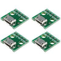 4x connecteur Micro USB femelle 5 pin PCB dip board plate Micro USB connector