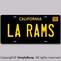 LA RAMS Los Angeles California NFL Football Team Vanity License Plate Tag New #2