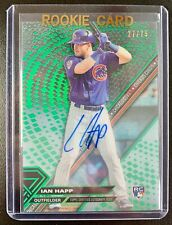 2017 Topps High Tek IAN HAPP Autograph Rookie Green Parallel SP /99 Chicago Cubs