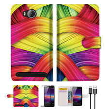 Meaningful Abstract Wallet TPU Case Cover For HUAWEI Y3 II 2 -- A020