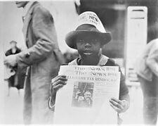 8 x 10 Photo - African American Newsboy - 1921