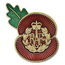 Royal Air Force Cap badge RAF Poppy