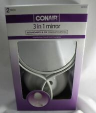 Conair 3 in 1 Mirror Countertop Hand-held or Hanging Standard & 5x Magnification