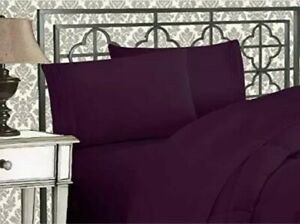 Elegant Comfort 4PCS 1500 Thread Count Premium Microfiber Bed Sheet Set - KING