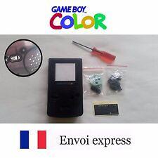 Coque GAME BOY color crystal noir NEUF NEW + tournevis triwing -étui shell case