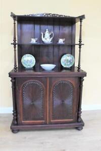 Victorian Rosewood Dresser/Cupboard