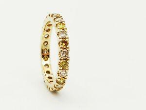 Schmuck 585 Gelbgold Ring Brillant Memory Ring 1,44  Carat Brillant Top Design