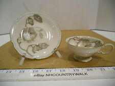 Castleton China Espresso or Demitasse Gloria Footed Cup & Saucer Set USA - EUC