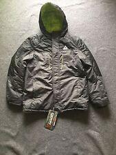 Gerry Boys' Superpipe II Insulated Jacket (JG5207), Slate Grey/Green Lining. L.