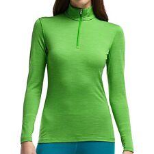 NEW Icebreaker Bodyfit 200 Oasis Stripe Zip Neck Top  UPF 30+, W's L Merino Wool