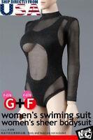 """1/6 Swimming Suit Fishnet Bodysuit F078 For 12"""" PHICEN Hot Toys Female Figure"""