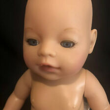 Zapf Creations Baby Doll Drink & Wet Doll 2006 Blue Eyes 16 Inches Nude Untested