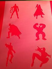 Avengers Stencil Template Hulk Batman Thor Paint Craft Fabric  Airbrush 3 Inch