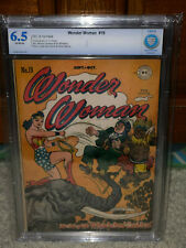 Wonder Woman #19 CBCS 6.5 DC 1946 1st Supreme Leader Blitz! Free CGC Mylar! cm