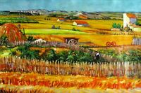 Van Gogh the Harvest Repro. Quality Hand Painted Oil Painting 24x36in