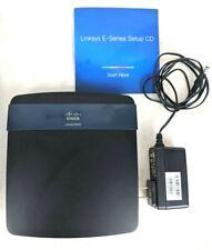 Cisco Linksys E3200 4-Port Gigabit Ethernet Dual-Band Wireless Router+Adapter