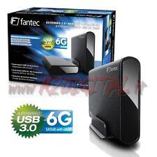 BOX ESTERNO 3,5 HARD DISK DRIVE USB 3.0 ALLUMINIO PC COMPUTER SATA PORTATILE
