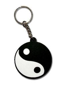 b89 Yin Yang Symbol Kampfsport Tai Chi Schlüsselanhänger Key Ring Gummi Anhänger