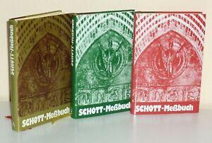 Schott Messbuch für sie Sonn- und Festtage. Lesejahre A, B, C. - 3 Bände