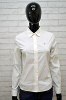 LACOSTE Camicia Bianca Donna Taglia 38 Maglia Shirt Woman Blusa Manica Lunga