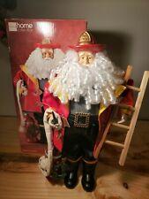 "Jc Penney Home Collection 18"" Decorative Christmas Fireman Santa Doll"