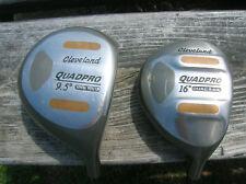 Cleveland Quadpro Woods Set w/HCs Driver & 3 Wood Cleveland S Flex Shafts/Grips