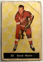 1961-62 Parkhurst Gordie Howe Card #20 Vintage Detroit Red Wings Legend