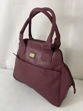 AVON STORM - Ladies Large Burgundy Faux Leather Handbag Kettle Shaped Tote Bag