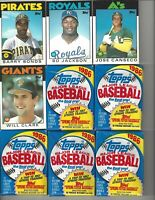 1986 Topps Bonds#11T Jackson#50T Canseco #20T Clark #24T + 5 Unopened Wax Packs