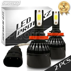 Protekz 8000LM 80W H11 H9 H8 LED Headlight Kit Bulbs Pair 6000K Xenon White